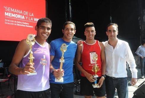 Premiación de la Prueba Atlética