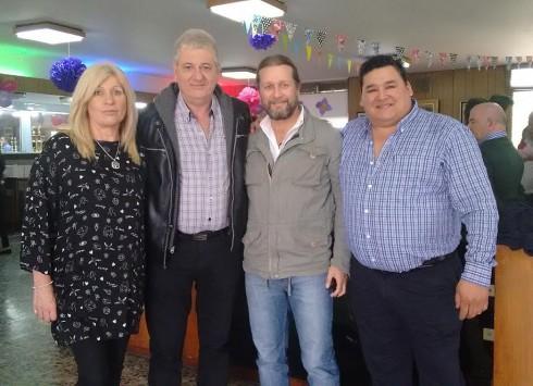 Mónica Martínez, Néstor Matías, Juan Sabatté y Marcelo Sombra.