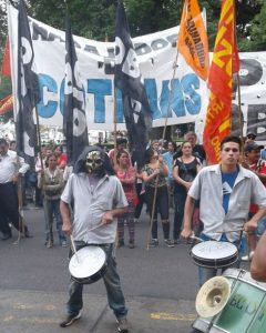 Marcha de los ex Ecotrans (Foto: R. Widmer)