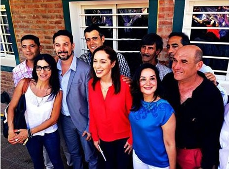 Vidal, juinto al bloque, Tagliaferro y los presidentes de la UCR, CC y FE Ituzaingó